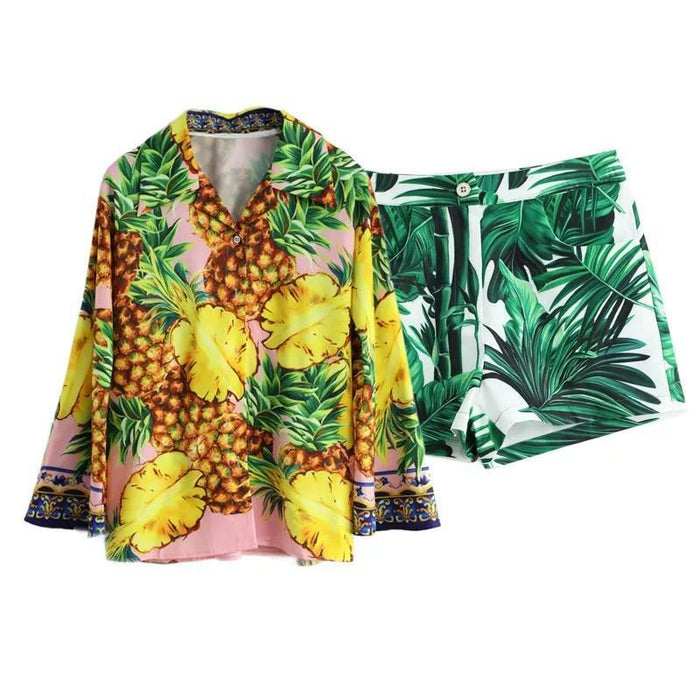 Pineapple Sky Short Set