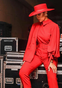 RED FEDORA OUTFIT STYLING