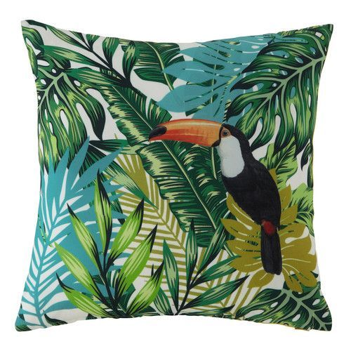 New Home Décor Collection - Signature Tropical Toucan & Green Palm Leaves Pillows