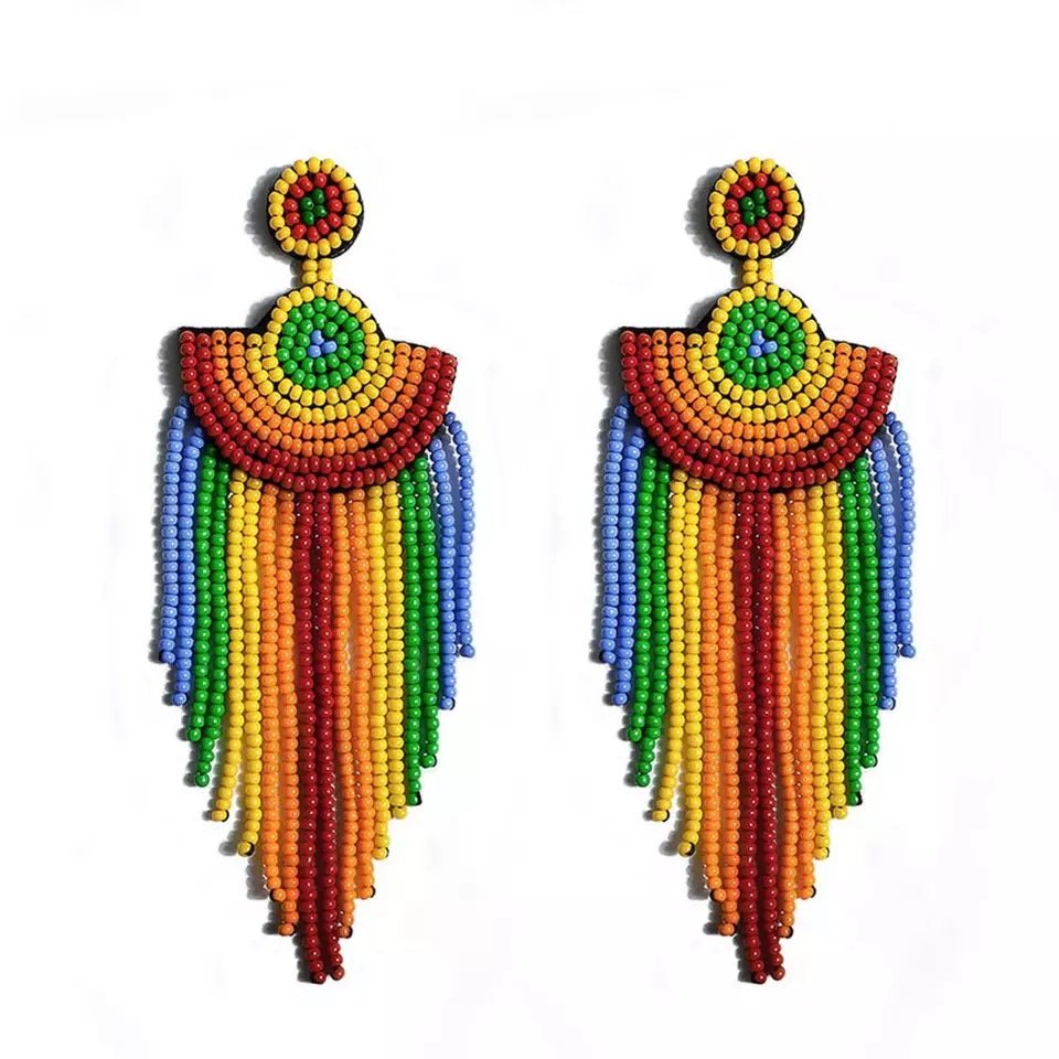 Green & Gorgeous Jewelry Collection | Rainbow Beads Earring