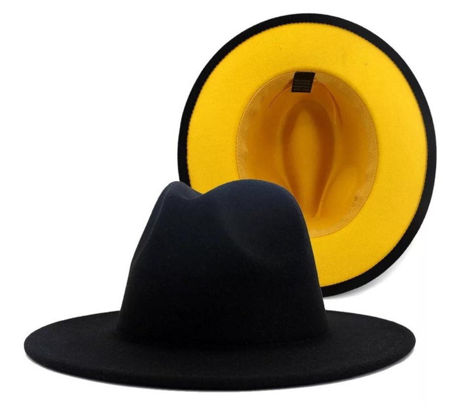 Black And Yelllow Fedora