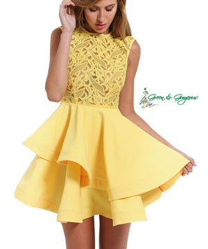 Yellow Lace Tutu Dress