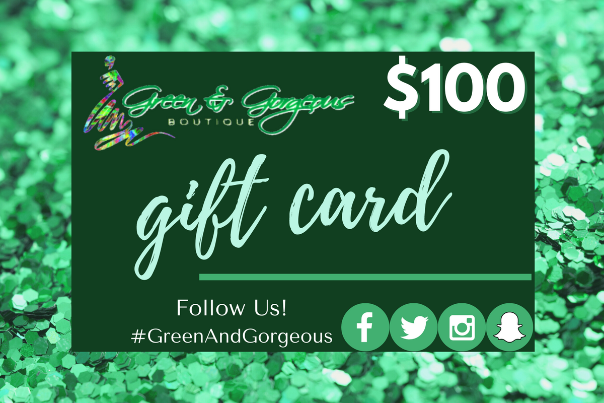 Green & Gorgeous Boutique Virtual Gift Card - $150