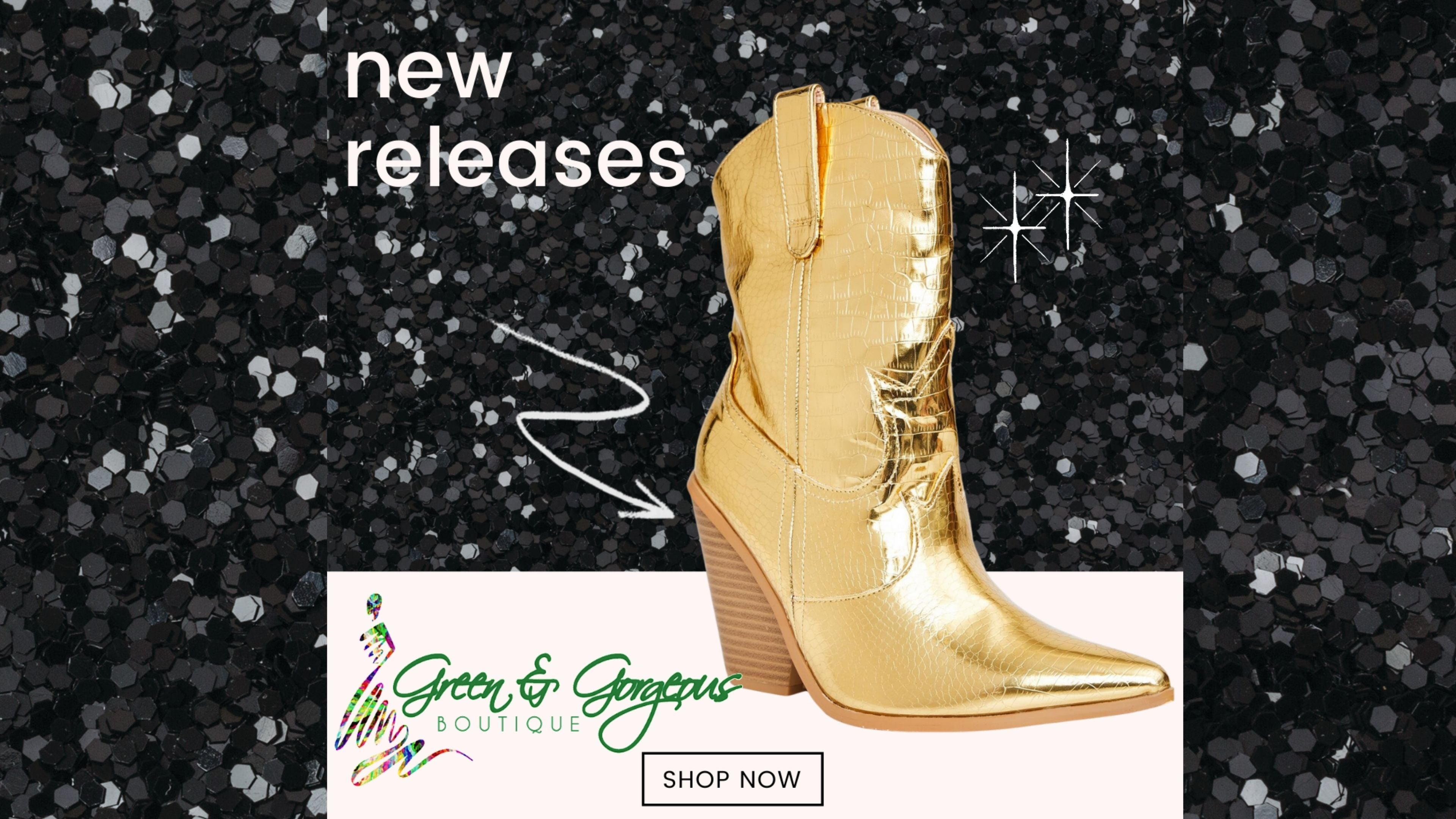 Golden Holiday Collection: 'Lovin' My Life' Signature Metallic Gold Cowboy Boots
