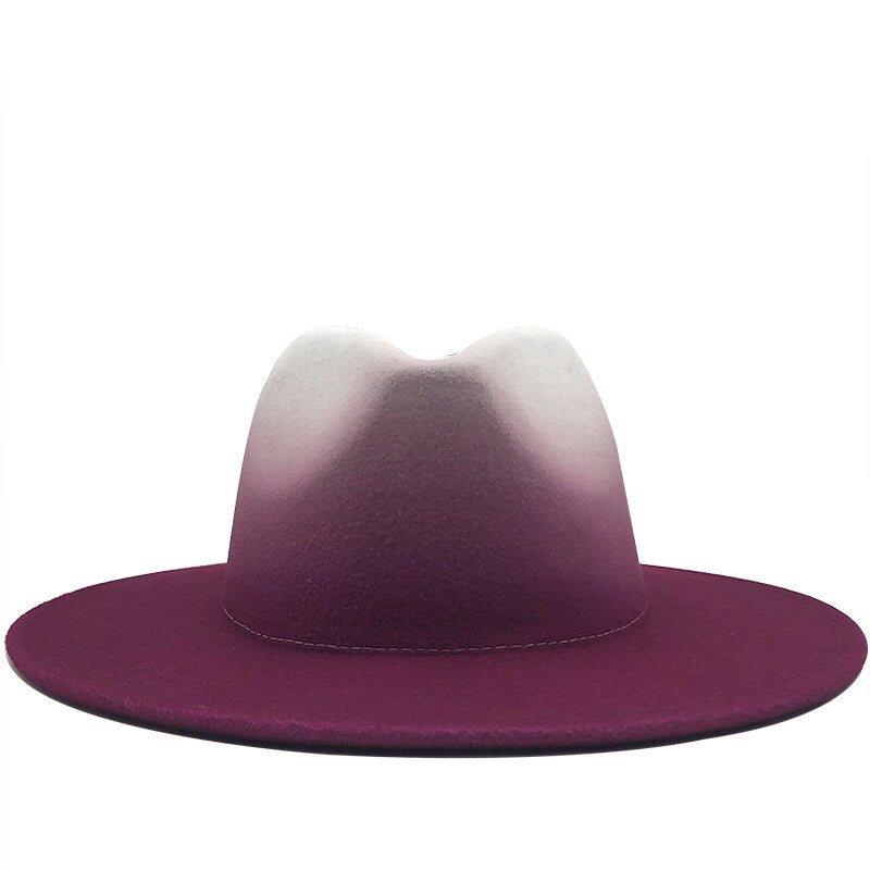 New Fall Collection | Purple & Crème Ombre' Fedora Hat