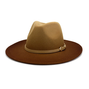 New Fall Collection | Beige & Brown Ombre' Fedora Hat