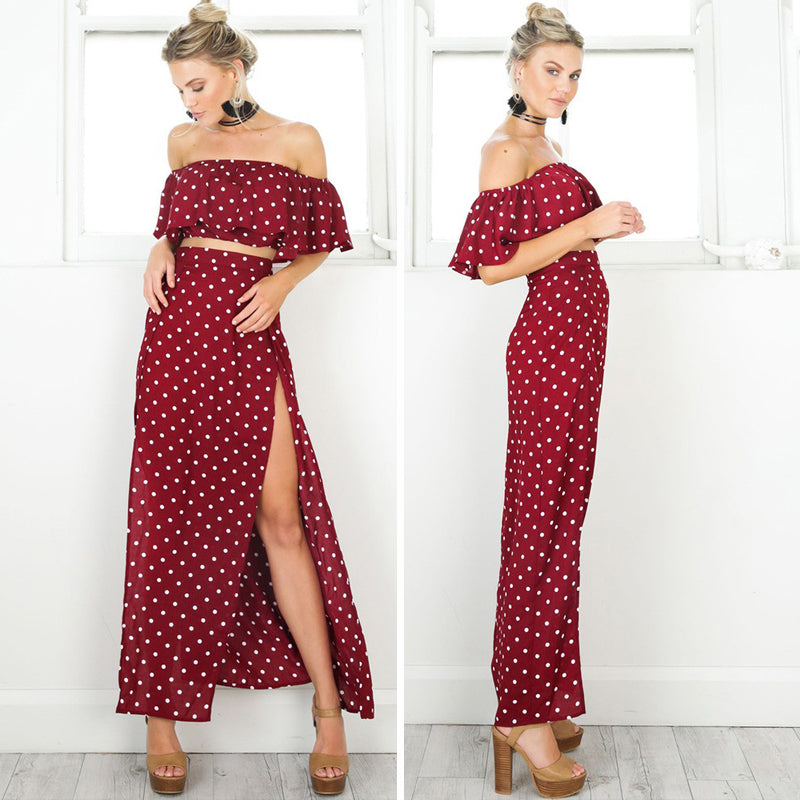 Red Polka Dot Two-Piece Set
