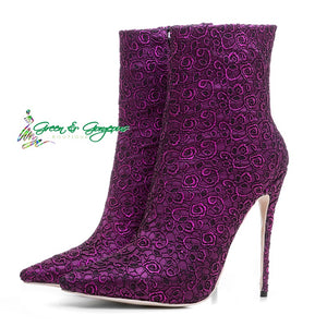 Purple Ankle Boots