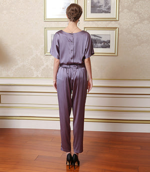 Purple Silk Jumpsuit