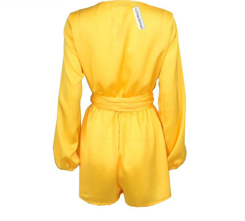 Yellow Lantern Sleeve Romper