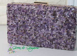 Purple Stone Clutch