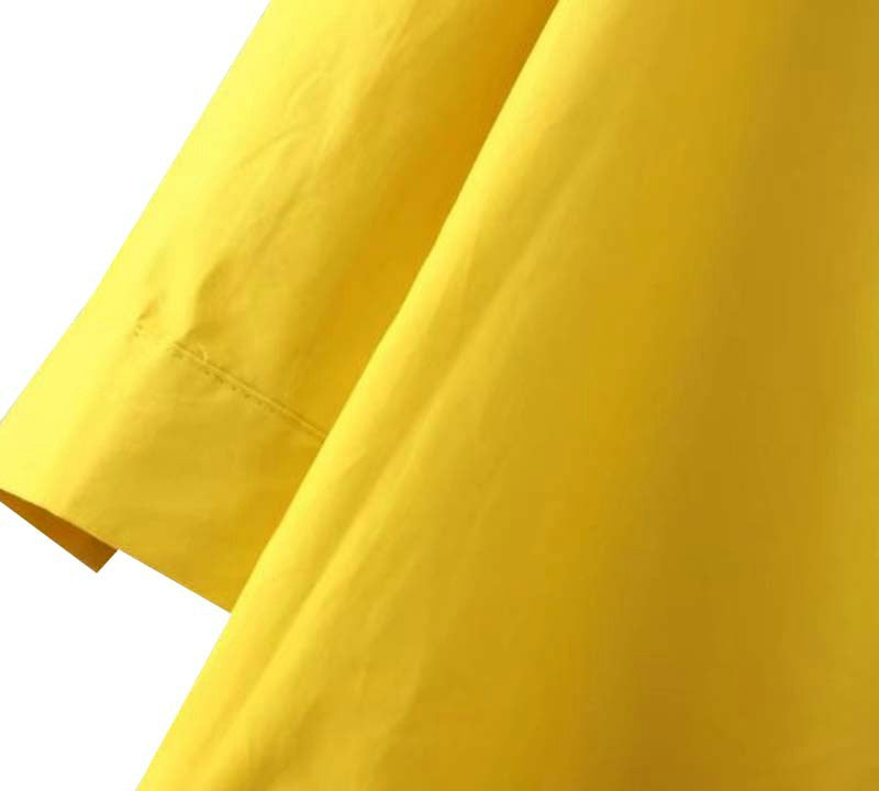 Yellow Mermaid Ruffle Dress
