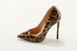 Brown Leopard Printed Heels