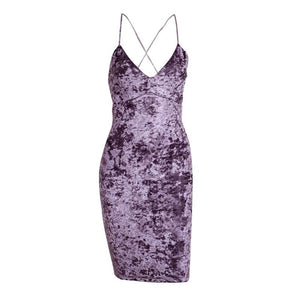 Purple Spaghetti Strap Dress