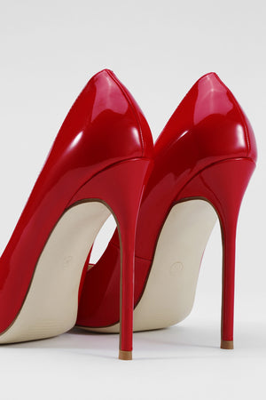 Red Sexy Finger Pointed High Heel Pumps