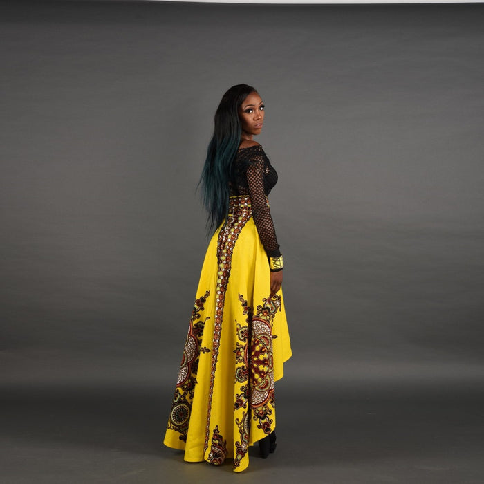 African High Low Pattern Skirt 2017 Floor Length Bohemian Style