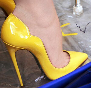 Yellow New Extreme High Heels Shoes