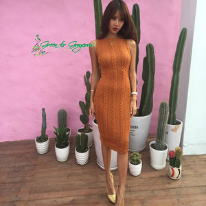 Brown Knit Dress
