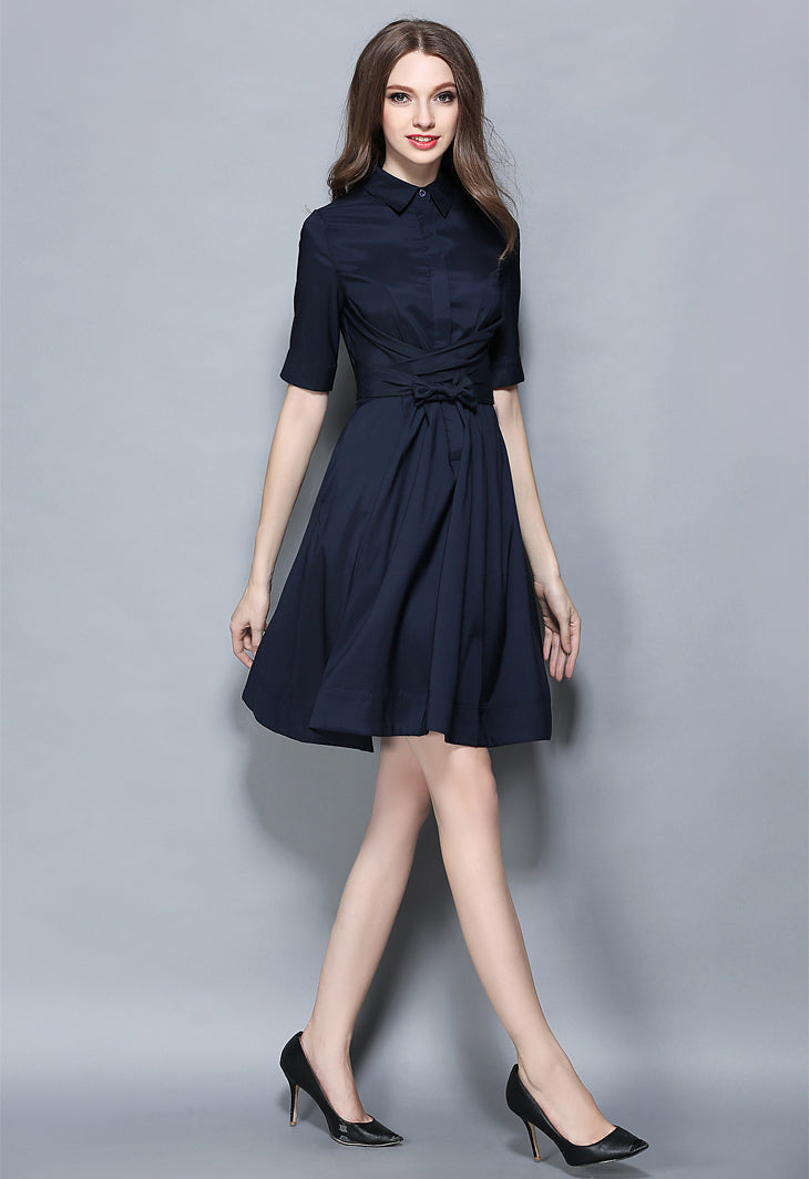Navy Blue Vintage Dress