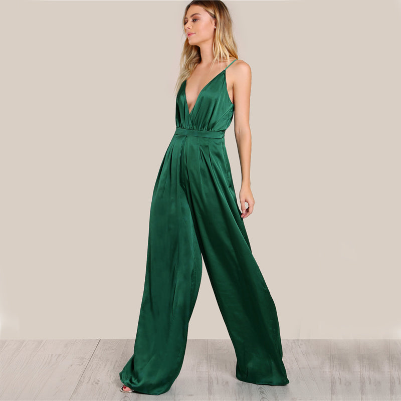 Green Pleated Jumpsuit