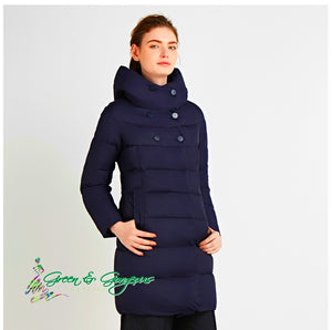 Blue Bio Down Thickening Winter Coat - High Quality