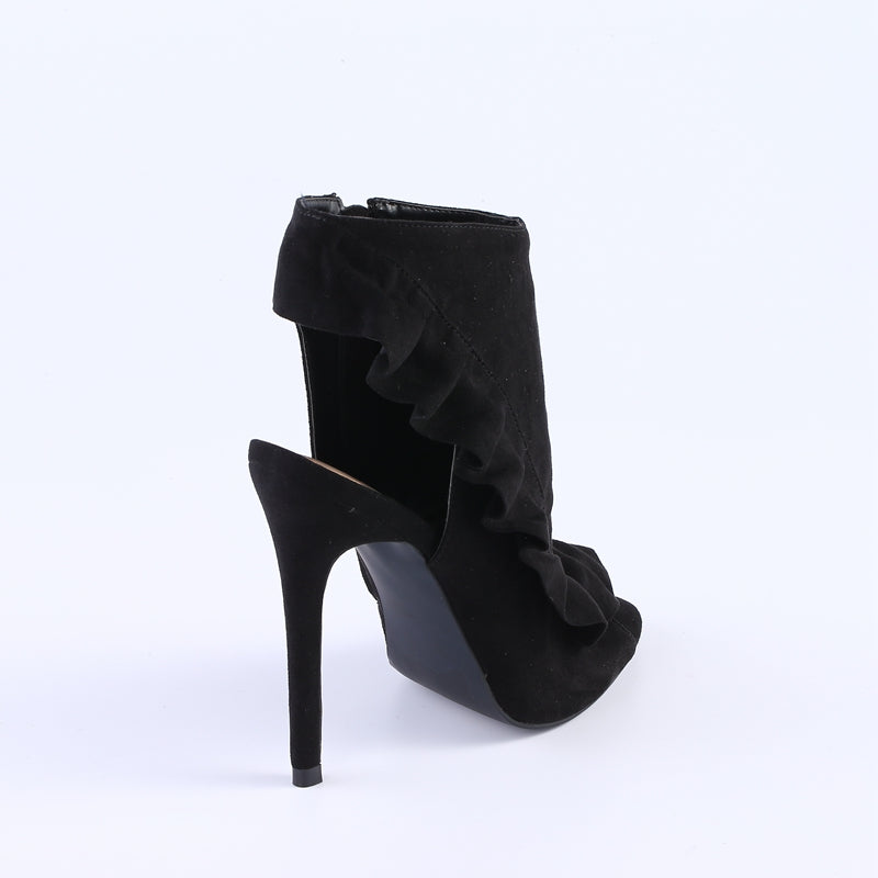 Black Peep Toe Pump