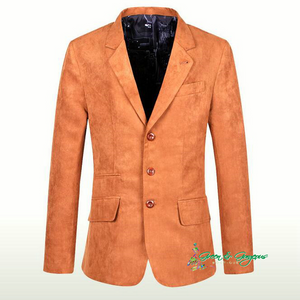 Orange Suede Vintage Blazer