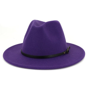New Fall Collection | Purple + Yellow Fedora Hat