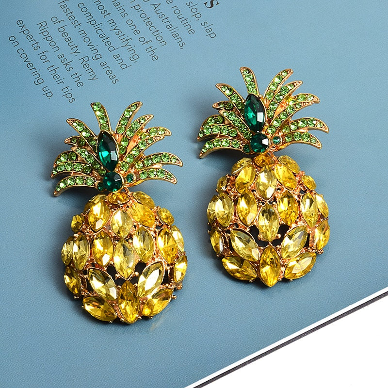Pineapple Sky Signature Collection | Custom Rhinestone Luxury Earrings