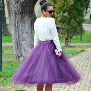 Purple Tulle Skirt