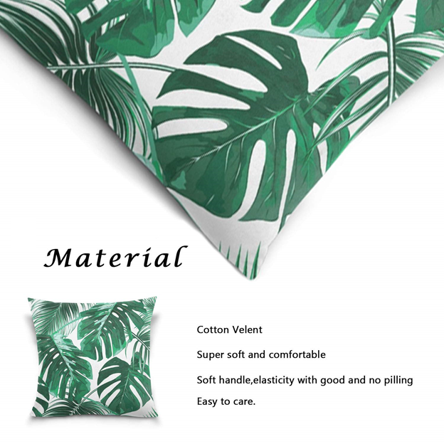 New Home Décor Collection - Signature Tropical Green Palm Leaves Pillows