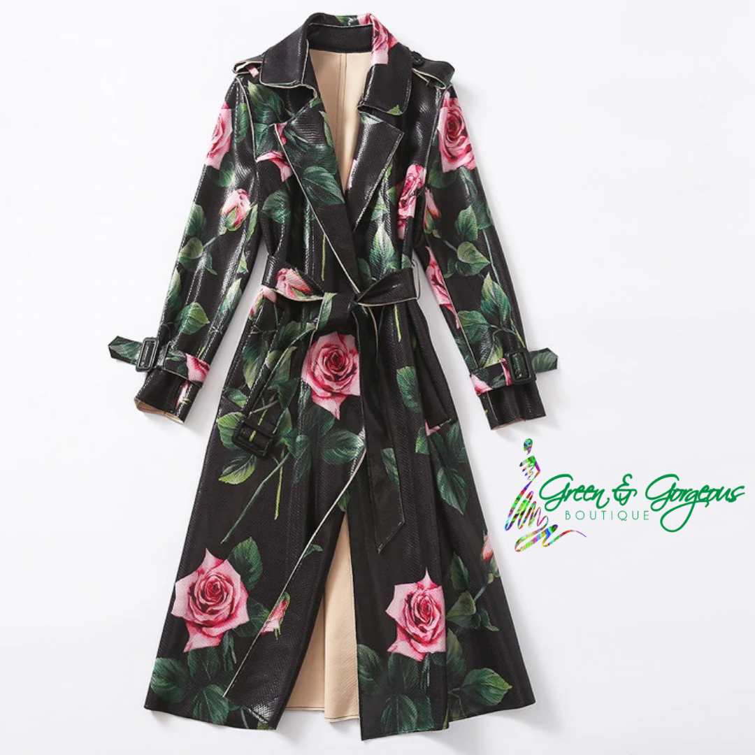ROSES ARE RED COLLECTION | 'A Rose Is Still A Rose' Trench Coat