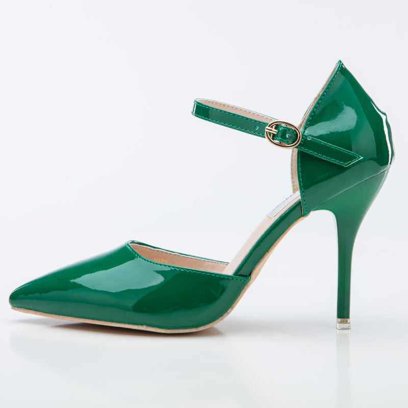 Shiny Green High Heels