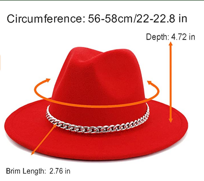 "ROSES ARE RED Collection | ""2 CHAINZ+2 TONEZ"" Red & Yellow Fedora Hat"