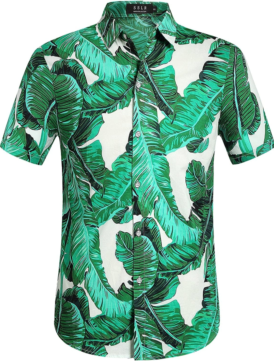 Men's Signature Tropical Palm Leaves Button-up Shirt