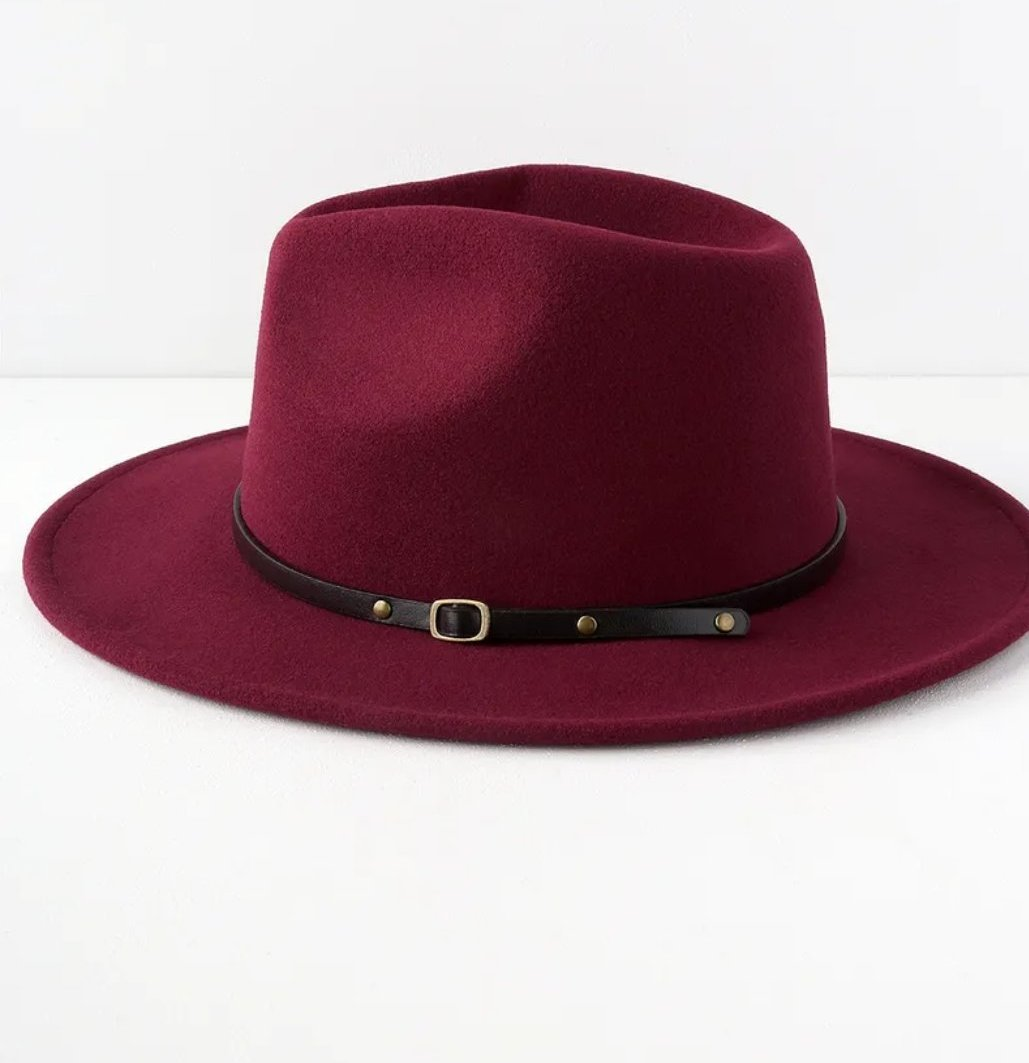 New Fall Collection | Berry Burgundy Fedora Hat