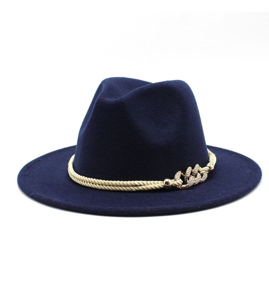 "New Fall Collection | ""Bedazzled"" Navy Blue Fedora Hat"