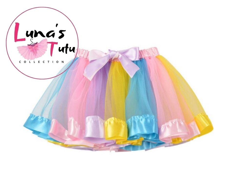 Luna's TuTu Collection | Light Pink -N- Yellow Ribbon TuTu Set