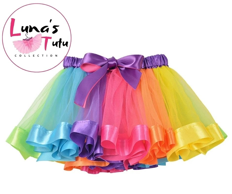 Luna's TuTu Collection | Signature Rainbow Ribbon TuTu