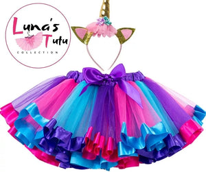 Open image in slideshow, Luna's TuTu Collection | Purple Ribbon TuTu Set