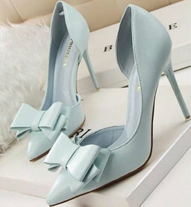 Blue Bow Knot Pumps