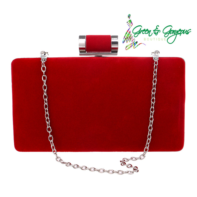 Red Clutch Shoulder Bag