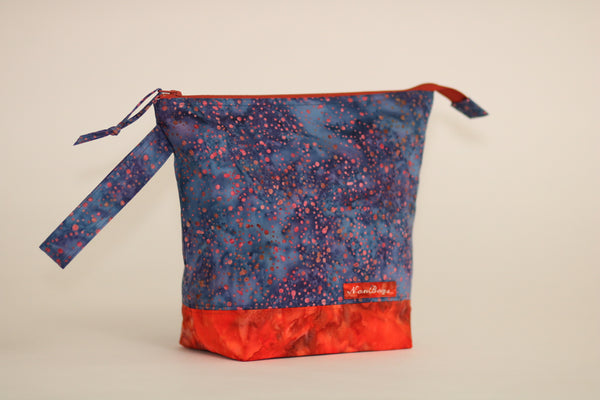 Project Bag - Blue Orange /  Batik