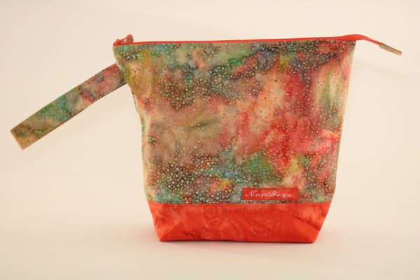 Project Bag - Green / Yellow / Orange / Batik