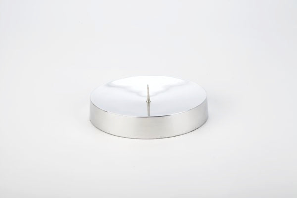 Round Candle Stand-Silver