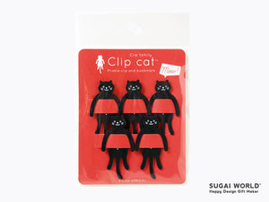 Paper Clip / Bookmark Black Cat