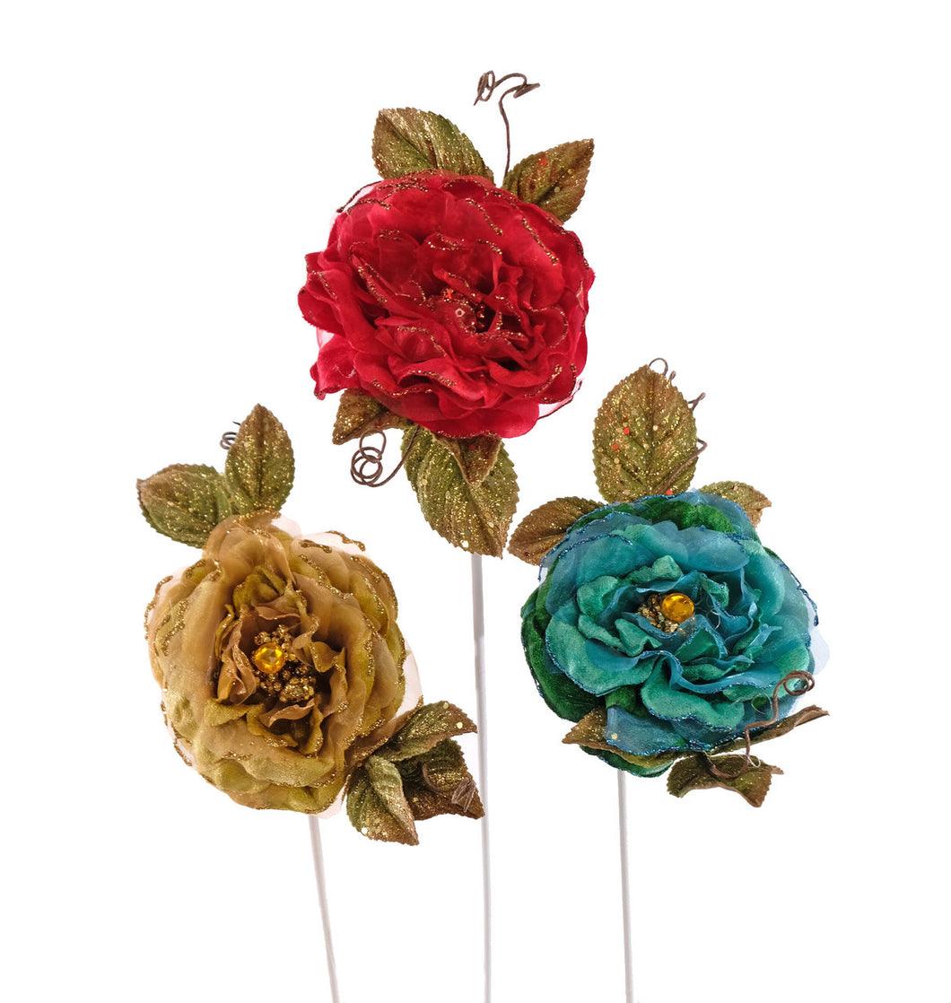 Royal Jeweled Rose Clips 3A