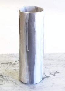 Medium Cylinder Vase 14''in Sienna on Matte White