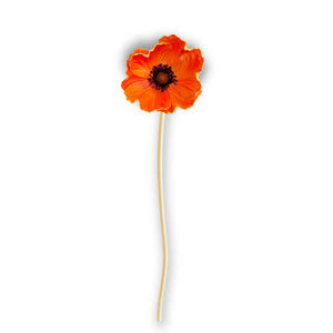 9.5 Inch Real Touch Mini Poppy Stem