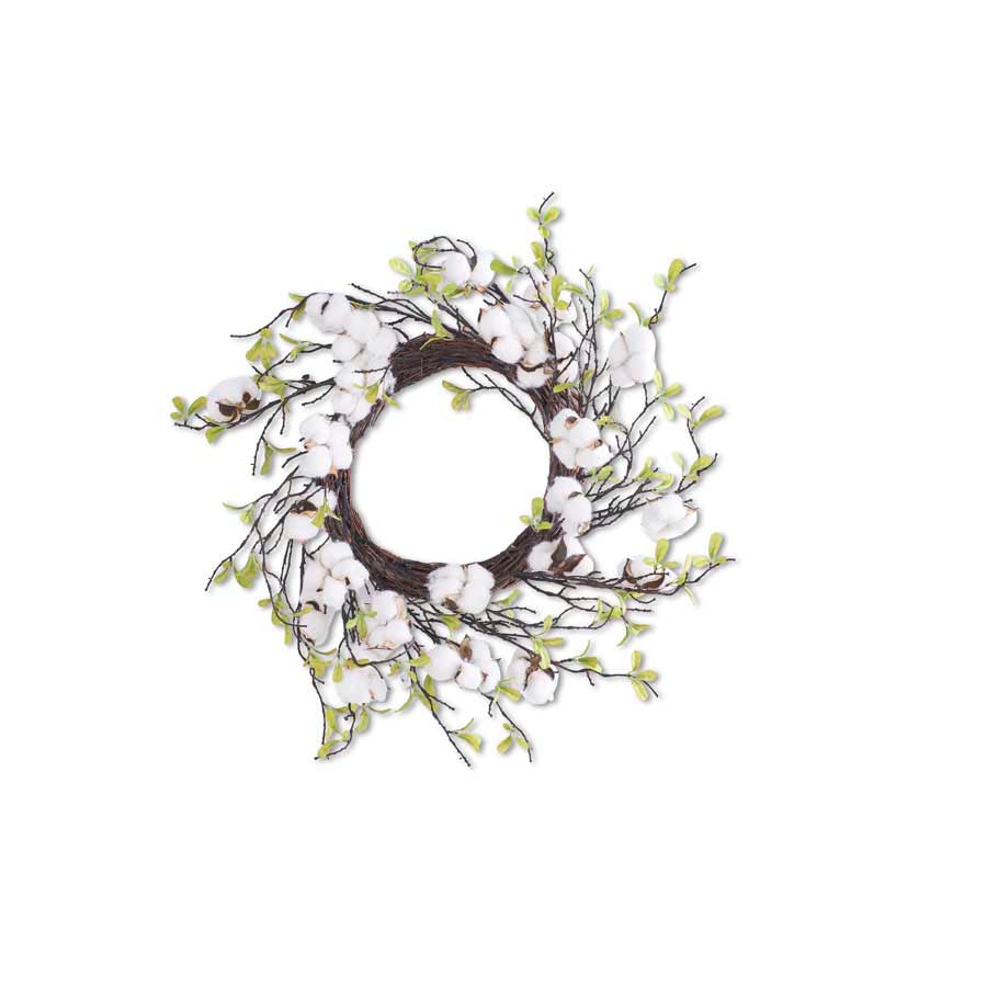 Cotton Wreath with Leaves 27